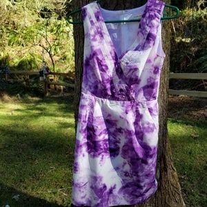 Banana Republic Women's Petite OP Dress Purple